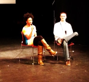 Angela and her husband Bryan Tucker, also the filmmaker, at the Q&a after yesterday's showing of Closure.