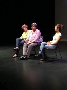 (L-R) Maureen Evans, Michelle Johnson, Sun-Mee Chomet
