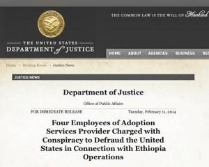 justice.gov web page