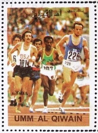 10k_at_1972_Olympics_Umm_al-Quwain_stamp