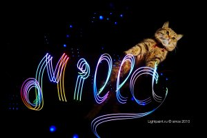 Lightpainting Turbo Cat Milla