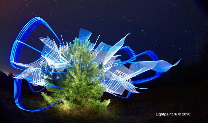 Lightpainting Russia Абстрактное рисование светом