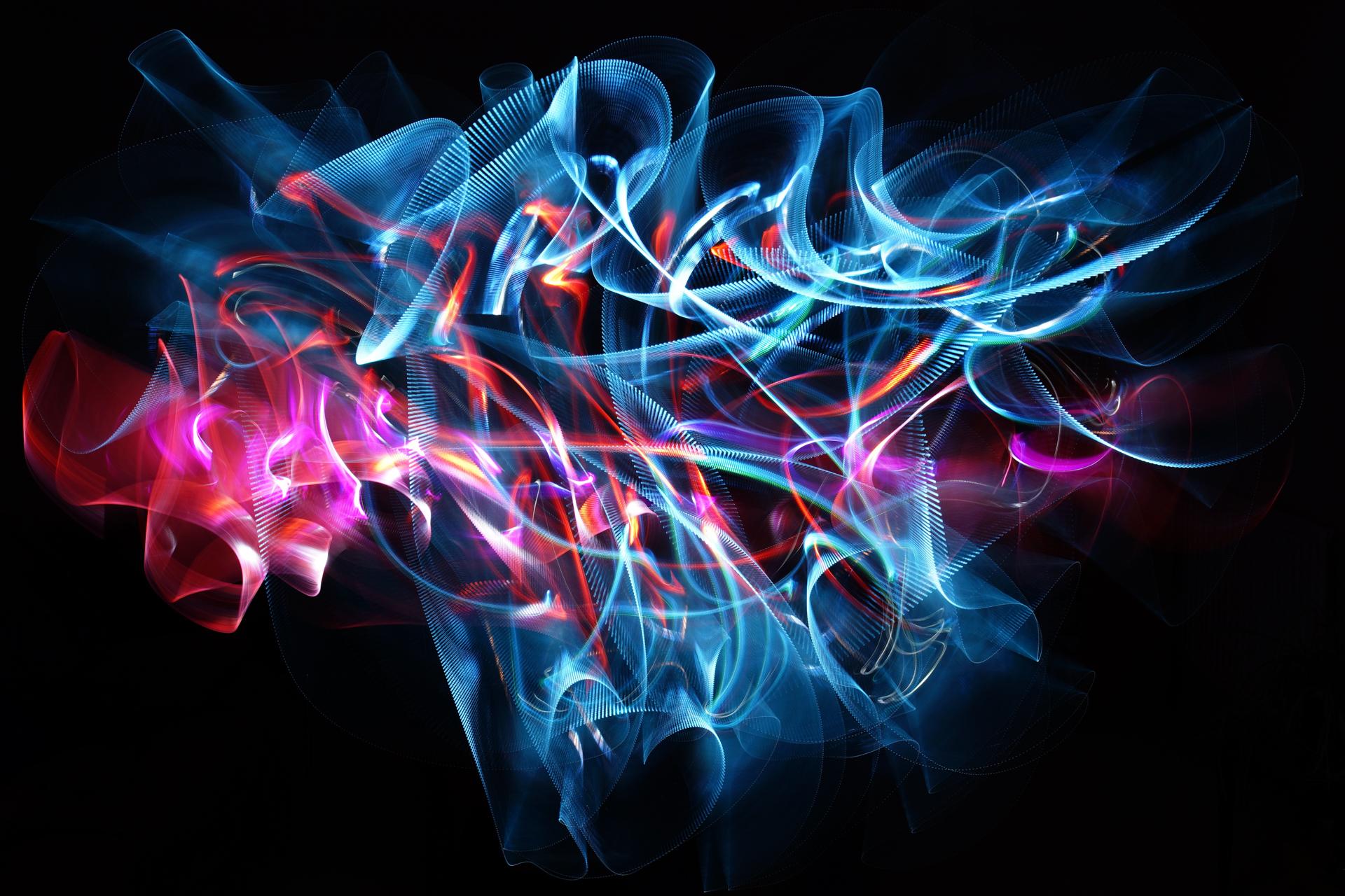 Darren Hopkins Plexiglass Light Painting Color And Texture