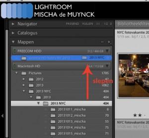 Lightroom: bestanden verplaatsen