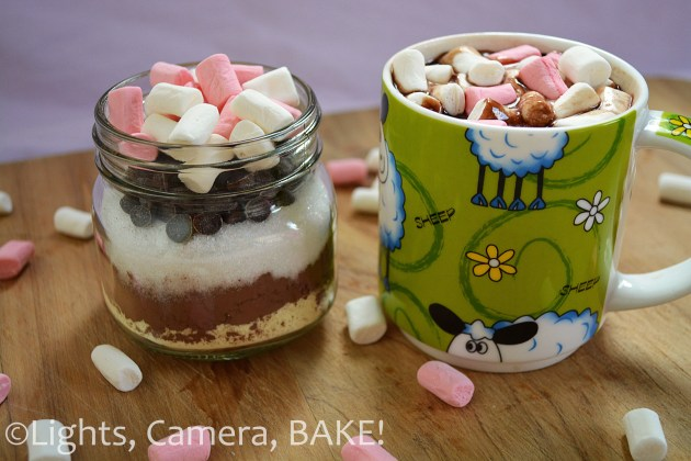 Hot Chocolate Mix in a jar! Just add water to create a lovely rich, creamy, decedent hot chocolate! Click the photo for the link. #hotchocolate #jars