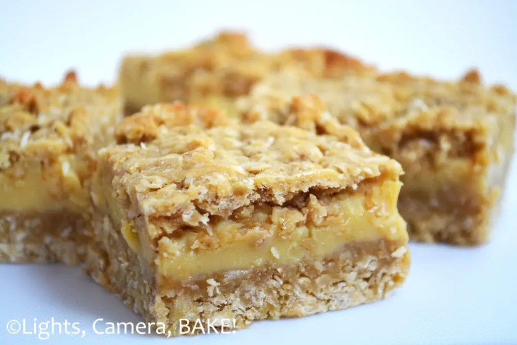 Buttery Caramel Oat Slice is a soft oat base and top with a thick layer of buttery caramel sandwiched in between. This is one of my favourite all time recipes and I get requests for this all the time! #carameloatbars #caramelbars #butterycaramelslice