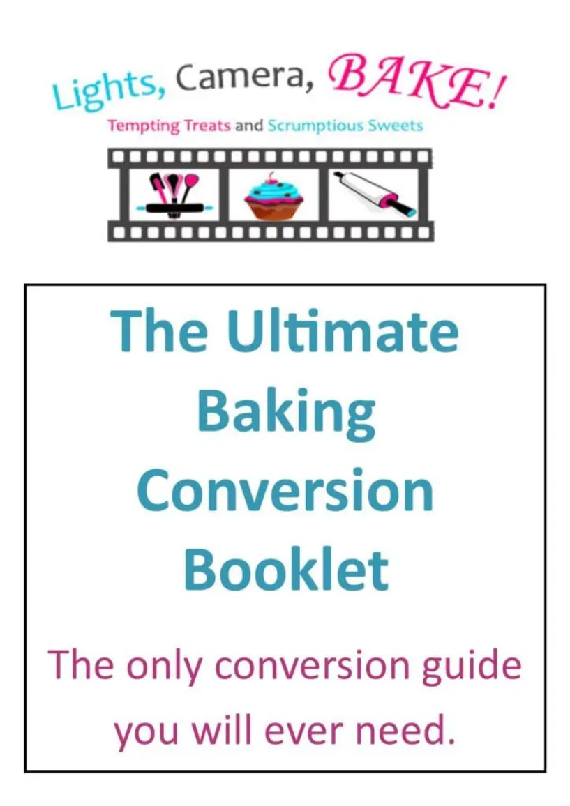 The Ultimate Baking Conversion Booklet. This is the cover for my up coming ebooklet for the only conversion booklet you will ever need to assist you in your baking!