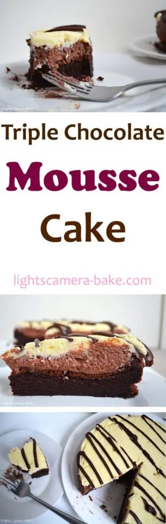Triple Chocolate Mousse Cake - Lights, Camera, BAKE!