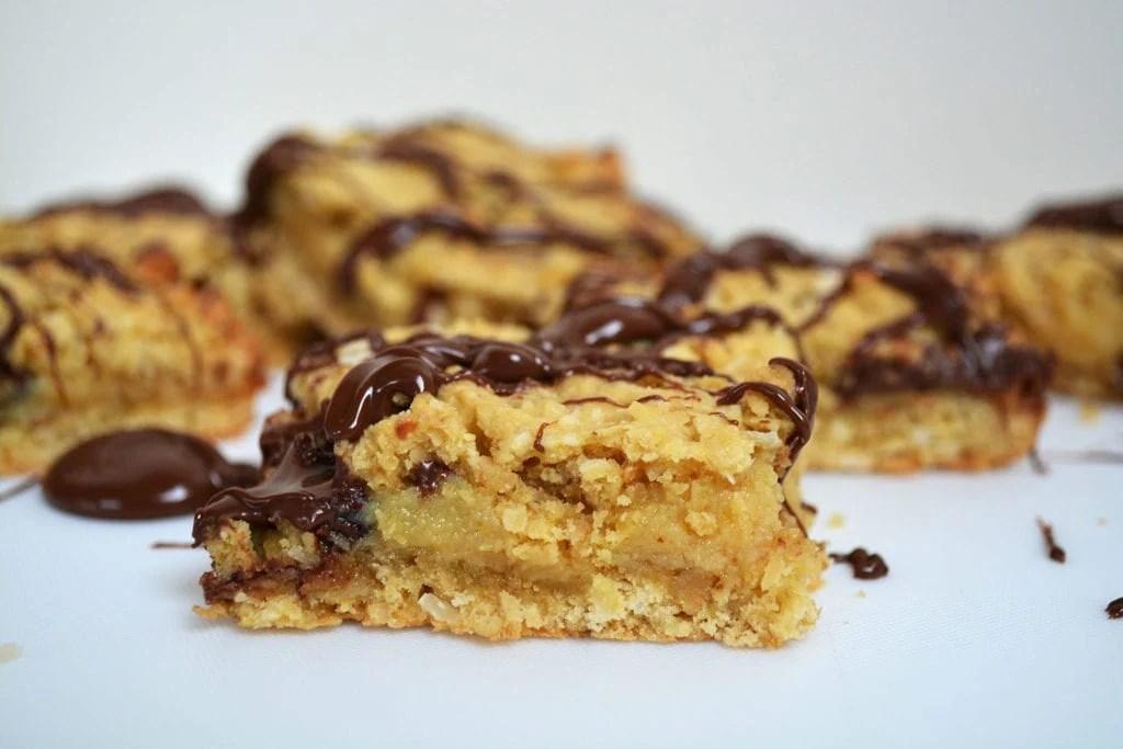 Nutella Caramel Oat Slice