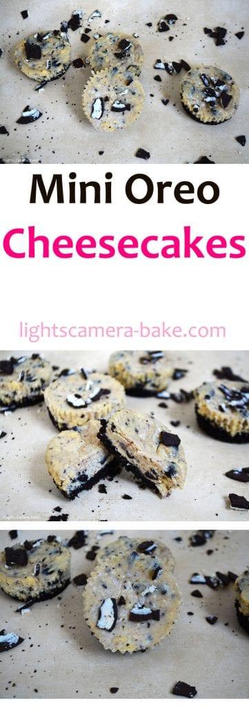 Mini Oreo Cheesecakes Lights Camera Bake A Dessert And Baking