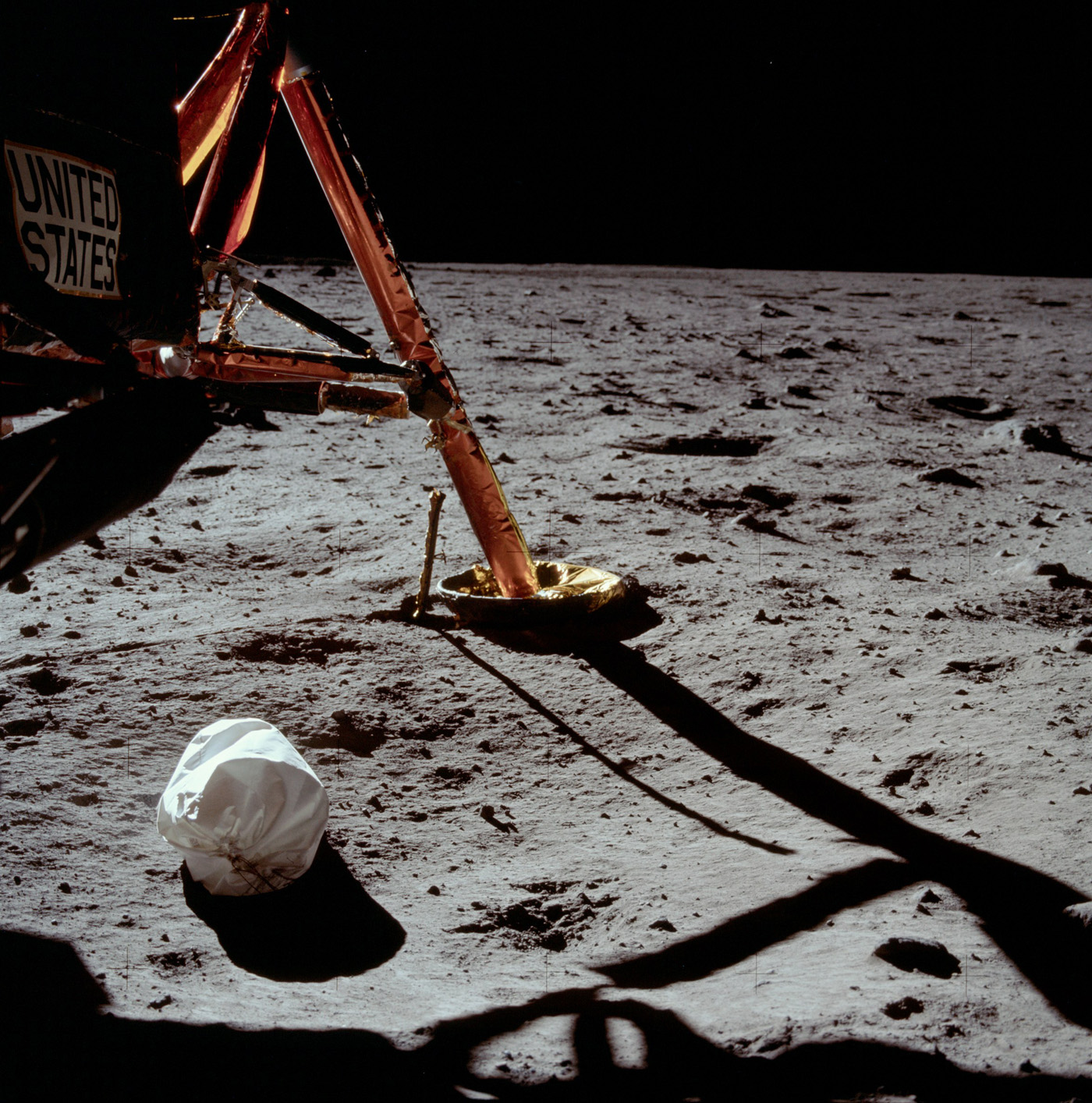 First Photo from the Moon
