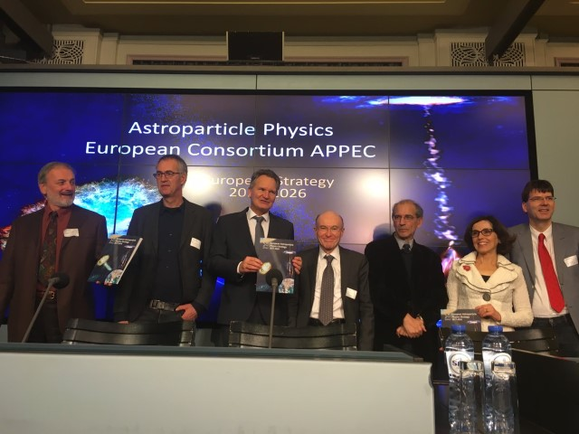 European astroparticle physicists present their strategy in Brussels