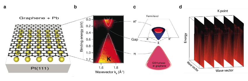 Topological insulator gap in graphene contacted with Pb