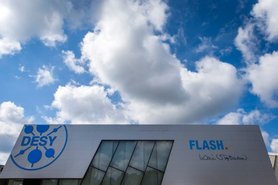 FLASH experimental halls, named after A. Einstein and K. Siegbahn. (Image Credit: DESY)