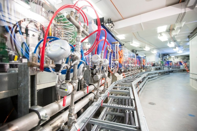 View inside the storage ring of the Canadian Light Source. (Credit: D.Stobbe/CLS)
