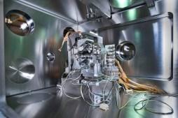 At at NSLS-II (Brookhaven National Laboratory) beamline 3-ID precision microscopy experiments use ultra-bright x-rays. (Credit: BNL)