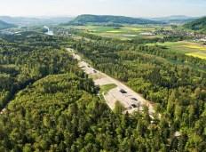 Aerial picture of SwissFEL (Credit: Paul Scherrer Institute)