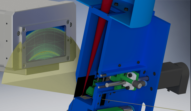 Operando X-ray diffraction during laser 3D printing
