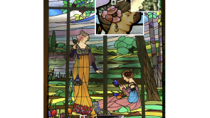 Stained glass being studied at ALBA