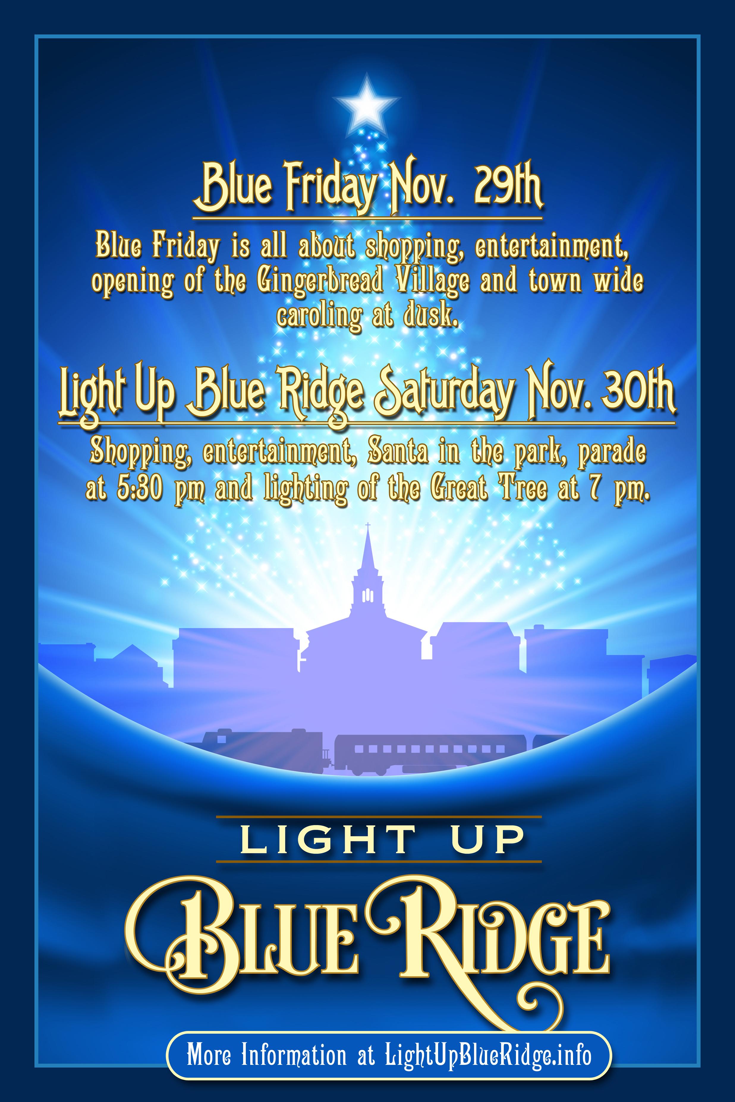 welcome to light up blue ridge light