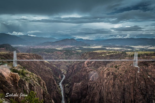 The complete view of the Royal Gorge park
