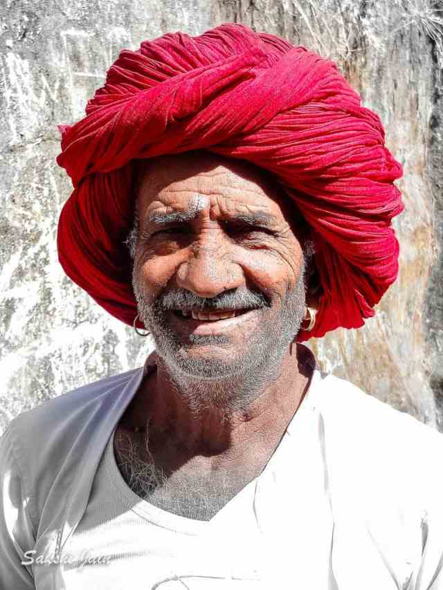 Old man with the red turban