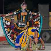 Folk dance at desert camp