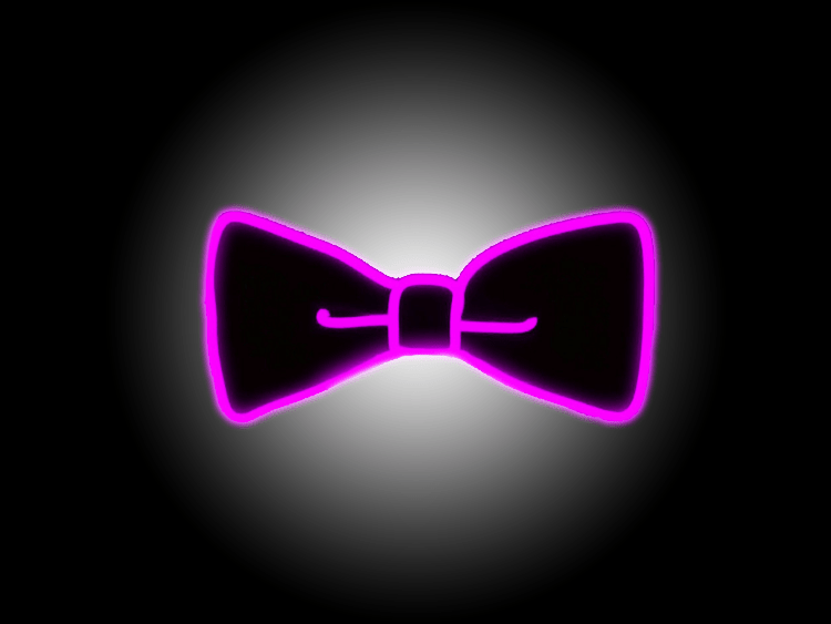 Purple El Wire Bow Tie (Light Up Bow Tie)