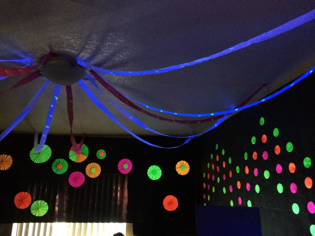 in the decorations glow really neon theme cool plates party for backdrop photo dark decor i enjoyed seeing was birthday so