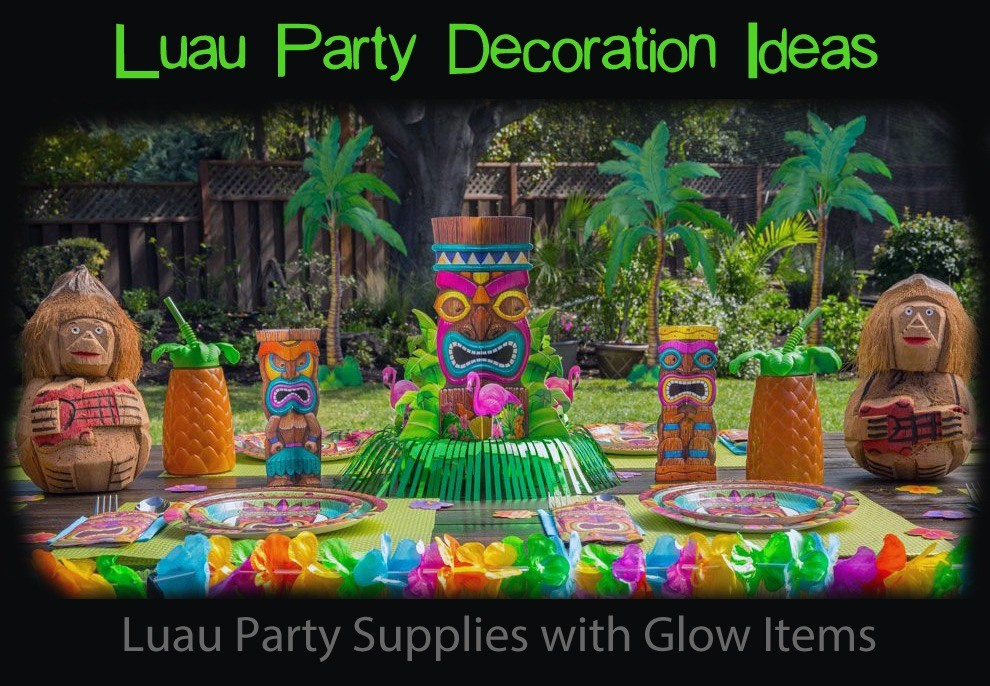 Luau Party Supplies with Glow Items