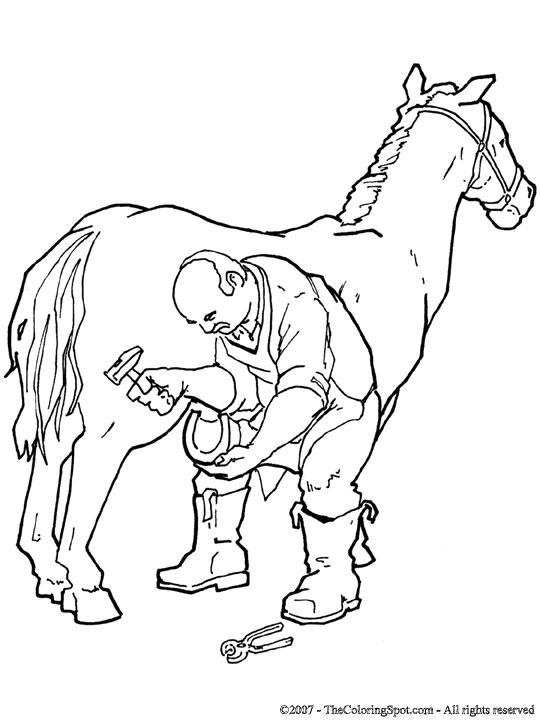 Blacksmith Shoes Horse Coloring Page Audio Stories For