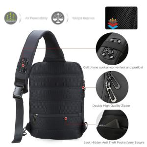 Sling Laptop Bag,Slim Anti Theft Single Shoulder 13-Inch Laptop Bag Waterproof Coss-Body Sling Bag with USB Charging Port