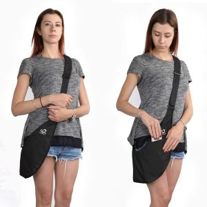 WATERFLY Packable Sling Bag for Women Travel Crossbody Bag Shoulder Purse Anti-Theft
