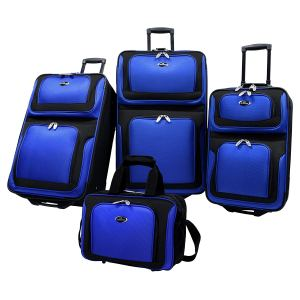 U.S Traveler New Yorker Lightweight Expandable Rolling Luggage 4-Piece Suitcases Sets