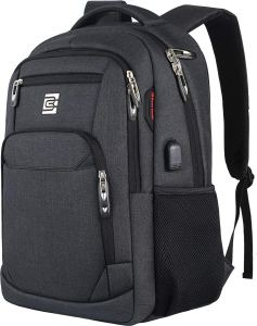Laptop Backpack, Business Travel Anti Theft Slim Durable Laptops Backpack with USB Charging Port, Water Resistant College School Computer Bag for Women & Men