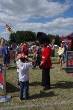 11-Guardsman entertains children