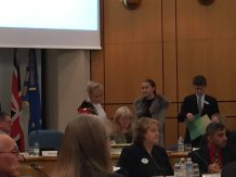 2-Presenting badges of office to Young Mayor and Deputy Young Mayor