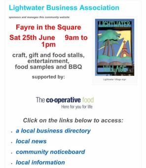 Lightwater Fayre in the Square