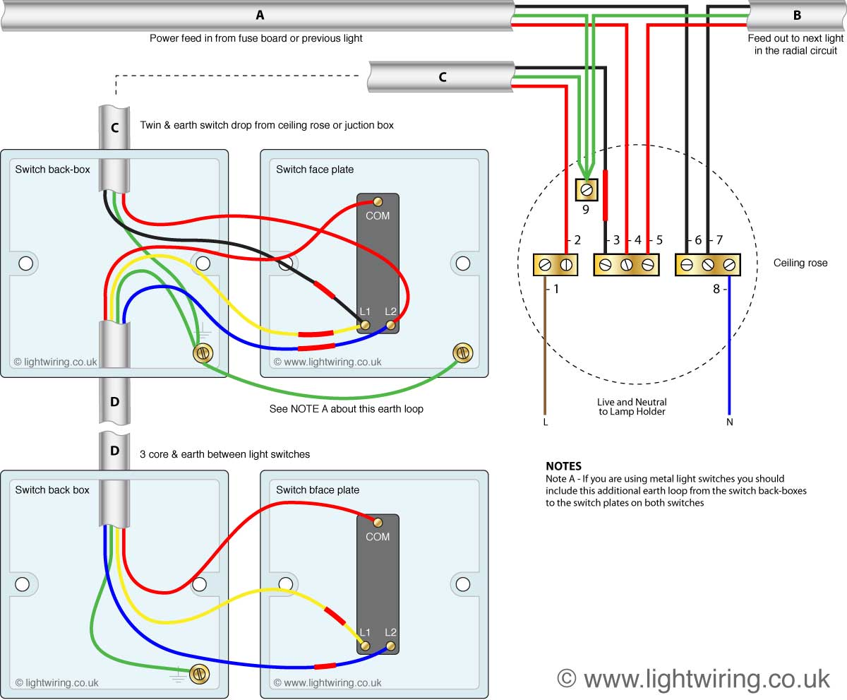 Wiring Diagram For Two Way Switch One Light Free Download Wiring ...