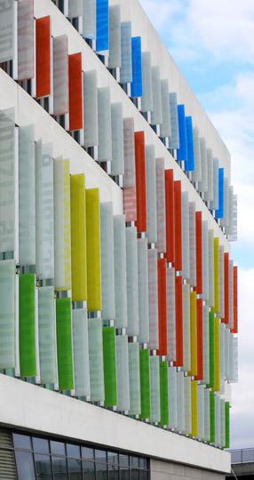 Ørestad Gymnasium, école supérieure autour des Médias - Ørestad City, Copenhague, Danemark - Architects : 3XN - Photo : Vincent Laganier
