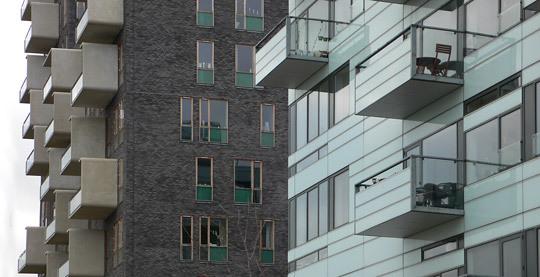 Détails d'architecture, Ørestad City, Copenhague, Danemark - Architects : 3XN - Photo : Vincent Laganier