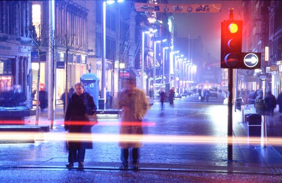Buchanan street, Glasgow, Grande Bretagne - Conception lumière : Speirs + Major - Photo : Paul Bock