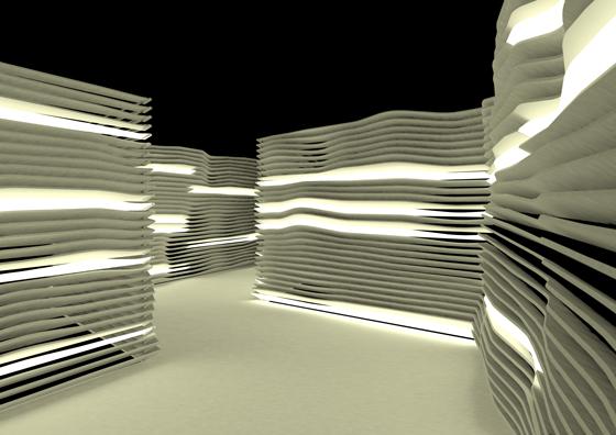 Simulation du projet Luminon, Place Colbert, Lyon, Fête des Lumières 2013 © Dolus & Dolus