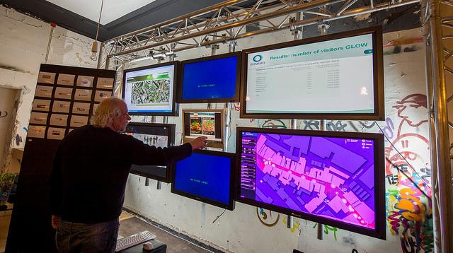 Présentation poste de contrôle Open-Remote Stratumseind Crédit Frank van Beek - Philips