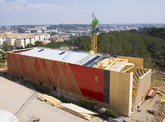 Chantier du Théâtre Jean-Claude Carrière, Montpellier, France - Architecte : A+Architecture © DroneStudio