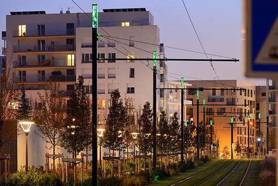 Ligne de tramway T4 Phase 2, Lyon - Systra, ILEX paysage urbanisme, concepteur lumière