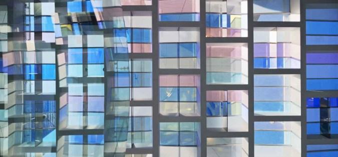 Vue zenithale, hall d'accueil, Tour Eqho, Paris-La Défense, France - Hubert & Roy architectes et associés - Concepto, Roger Narboni © Fernando Javier Urquijo photographe
