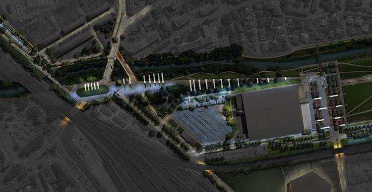 Plan nocturne en phase AVP, boulevard de la Seille, Metz