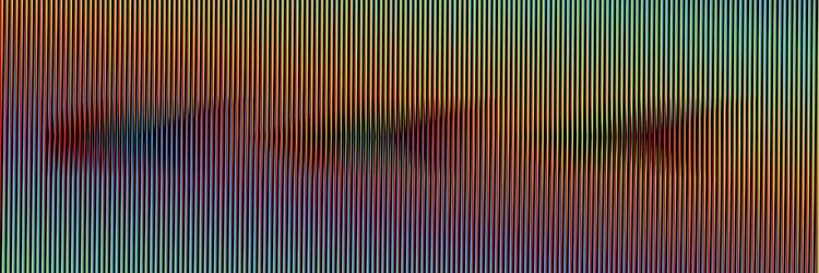 Induction-Chromatique-à-double-fréquence-Ire,-100x300-cm-Paris-2011-©-Atelier-Cruz-Diez