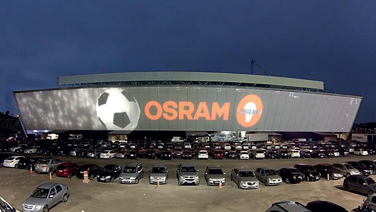 Stade Arena Corinthians, facade 2, Sao Paulo, Bresil © Osram